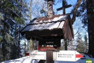 Szczyt na górze Łysica