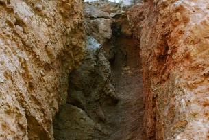 Lej krasowy w kamieniolomie Zygmuntówka