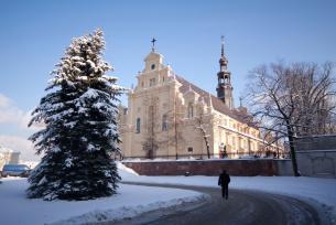 Katedra Kielecka zimą