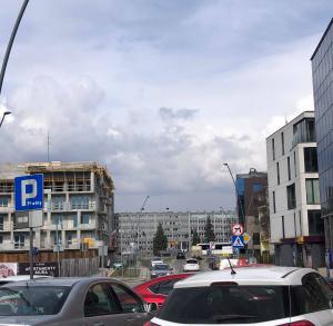 Parking na rogu ul.Piotrkowskiej i ul. Planty