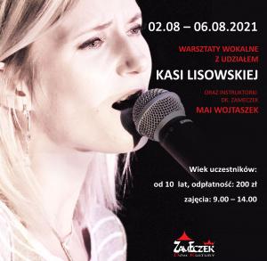 Warsztaty wokalne w Domu Kultury Zameczek z Kasią Lisowską