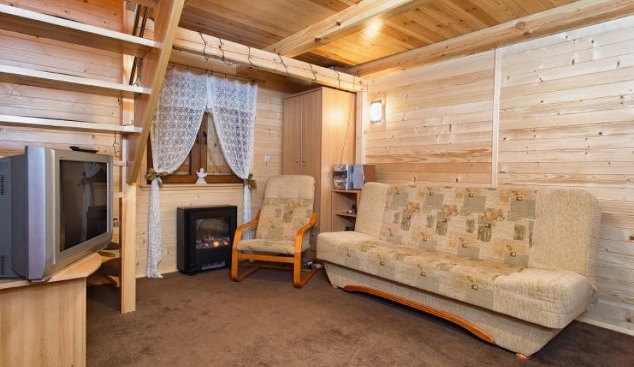 Salon w domku góralskim
