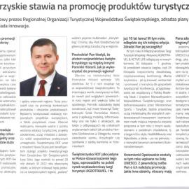 Świętokrzyskie stawia na promocję produktów turystycznych - wywwiad z prezesem ROTWŚ